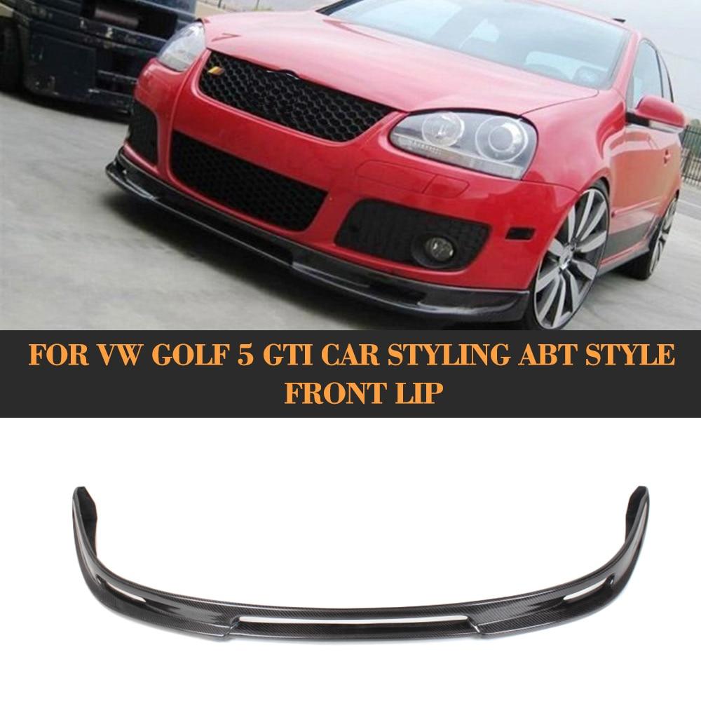 carbon fiber auto car front bumper lip spoiler for vw golf. Black Bedroom Furniture Sets. Home Design Ideas