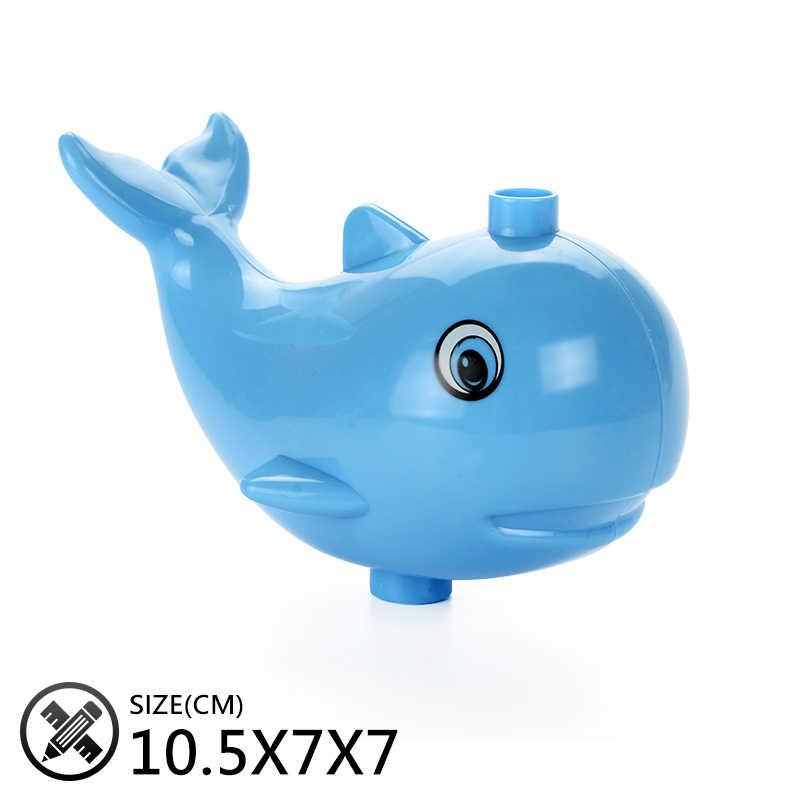 Oryginalny duży rozmiar montaż klocki akcesoria zabawki dla dzieci kompatybilny z Duplo zwierzęta zestawy Zoo cegły prezenty dla dzieci