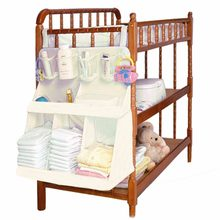 Waterproof Nursery Organizer Baby Diaper Caddy Bed Hanging Diaper/Toys/Clothes/Bottle Storage Bag For Crib Bedding Set(China)
