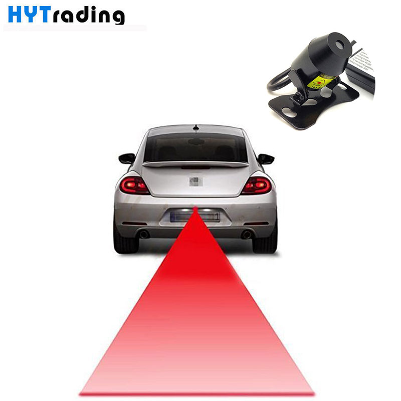Car Anti-collision Laser Fog Light Auto Anti-fog Parking Stop Braking Signal Indicators Motorcycle LED Warning Light Strong red