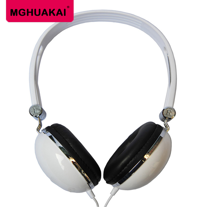MGHUAKAI pure white shell gaming headset mobile computer sports headset travel portable headset