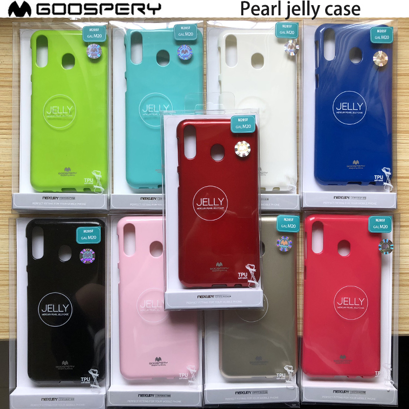 Original Mercury Goospery Rubber Soft Slim Pearl Jelly Cover <font><b>Case</b></font> for <font><b>Samsung</b></font> <font><b>Galaxy</b></font> A10 A20 <font><b>A30</b></font> A40 A50 A70 A80 M10 M20 image