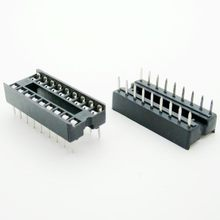 26PCS/Lot 18 Pin DIP Square Hole IC Sockets Adapter 18Pin Pitch 2.54mm Connector