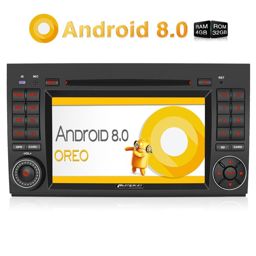 Pumpkin 2 Din 7''Android 8.0 Car DVD Player For Benz Vito/Viano 2006 2012 GPS Navigation Car Stereo 4G USB FM Rds Radio Headunit