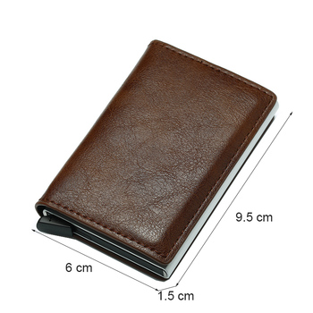 Antitheft Metal Credit ID Card Holder Wallet Men Rfid Blocking Aluminium Business Creditcard Holder Case Mini Wallet for Cards