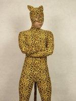 Wholesale Full Body Lycra Spandex Zentai leopard Bodysuit S/M/L/XL/XXL A039
