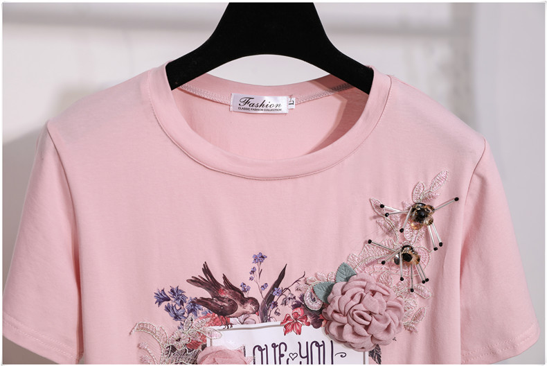 3D Flowers Stylish T Shirts 9