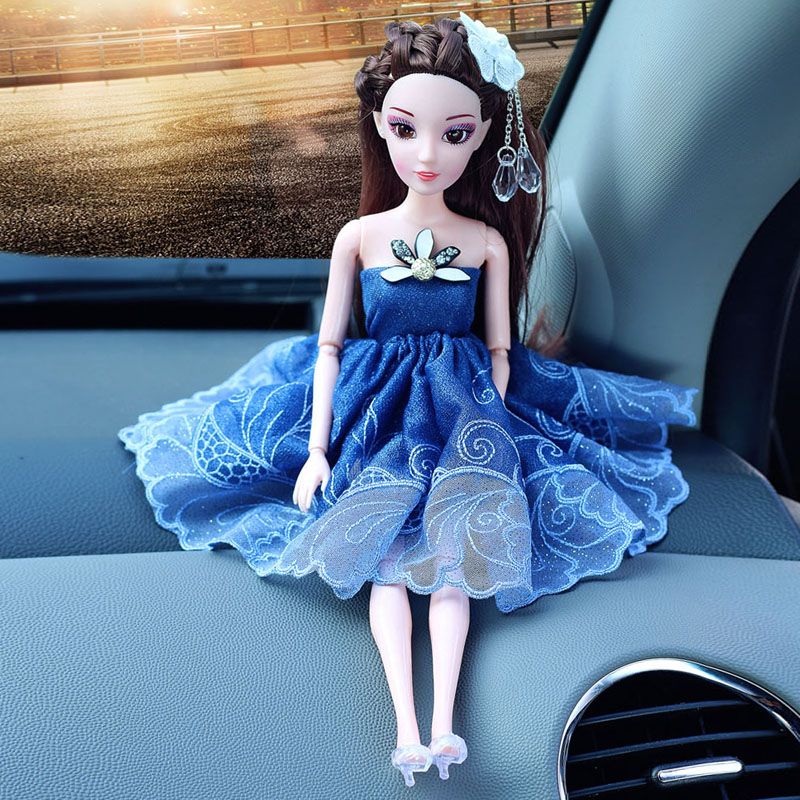head Arts Crafts Car accessories ornaments boutique Wedding Barbie doll car ornaments jewelry lady lovely veil gift tide art gi