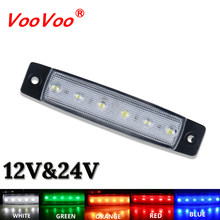 Car External Light LED 12V 24V 6 SMD LED Auto Car Bus Truck Lorry Side Marker Indicator Led Trailer Light Warning Rear Side Lamp(China)