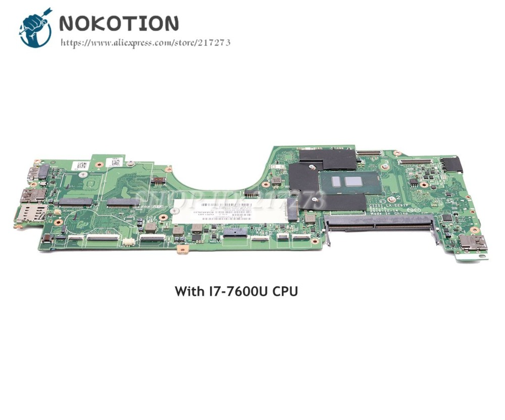 NOKOTION 01HY149 CIZS1 LA-E291P Main Board For Lenovo Yoga 270 370 Laptop Motherboard I7-7600U CPU DDR4