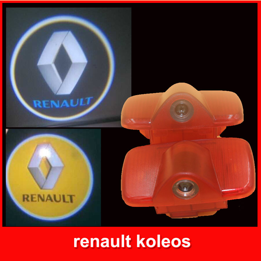 Car LED welcome light 3d Ghost Shadow lamp auto door logo Light for renault koleos free shipping renault car door light ghost shadow welcome light logo projector emblem for renault koleos laguna renault duster
