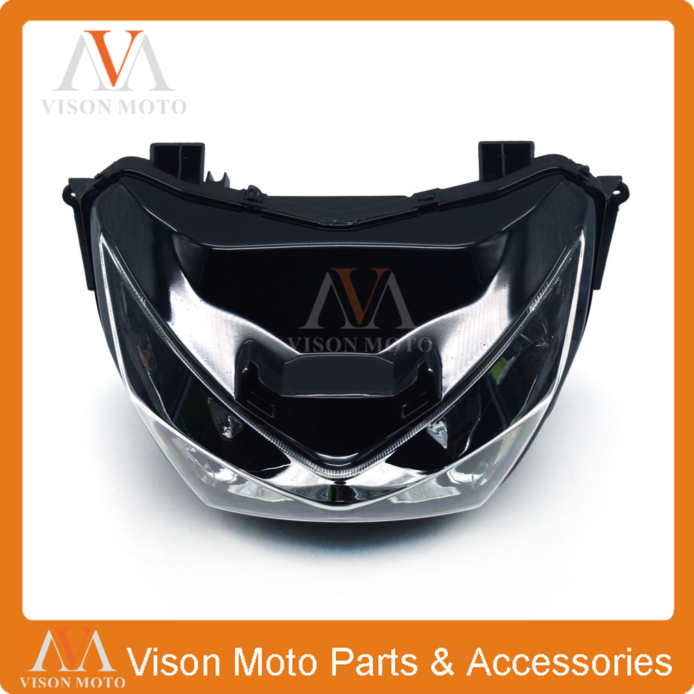 Motorcycle Front Light Headlight Head Lamp For KAWASAKI Z800 Z250 Z 800 250 2013 2014 2015 13 14 15 motorcycle scooter electroplate front headlight headlamp head light lamp small mask cap cover shield large for yamaha bws x 125