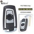 KEYECU 315/434/868 МГц PCF7953 / PCF7945 чип CAS4 +/FEM KR55WK49863 3 кнопки дистанционного ключа Fob для BMW 1 2 3 4 5 6 7 серии X3 M2