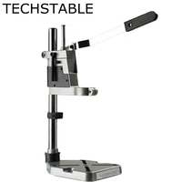 TECHSTABLE Aluminum Bench Drill Stand Double Head Electric Drill Base Frame Drill Holder Power Grinder Accessories