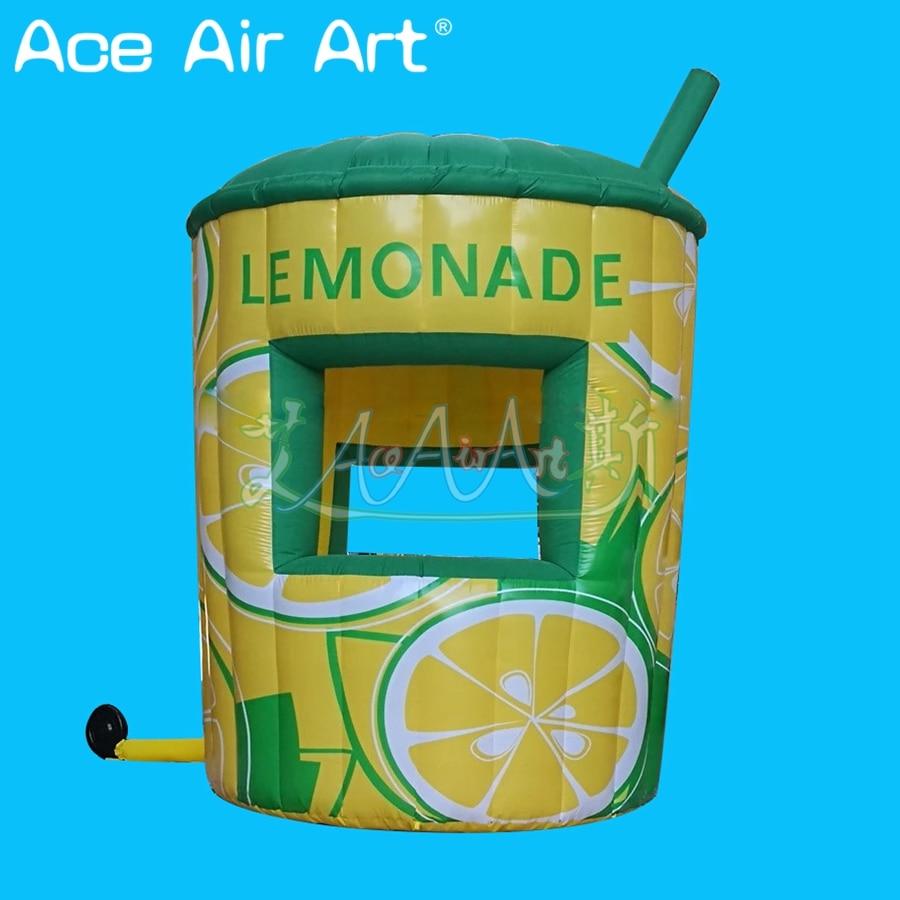 Deft design inflatable lemonade sale stand booth,food shop,concession lemon DRINK stall kiosk for promotion
