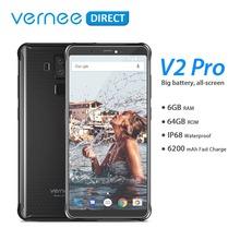 Global Version Vernee V2 Pro IP68 Waterproof Rugged Mobile Phone Android 8 1 6GB RAM 64GB