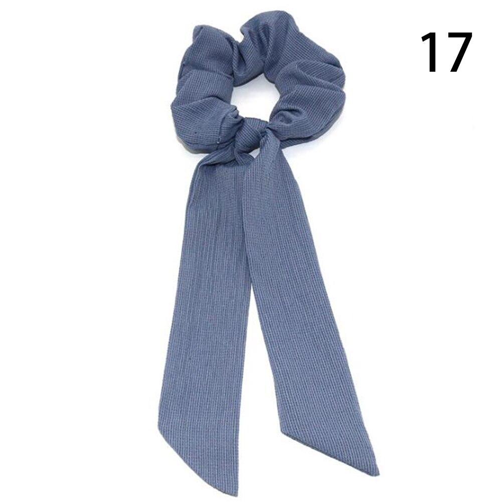 Богемные резинки для волос в горошек с цветочным принтом и бантом, женские эластичные резинки для волос, повязка-шарф, резинки для волос, аксессуары для волос для девочек - Цвет: 17