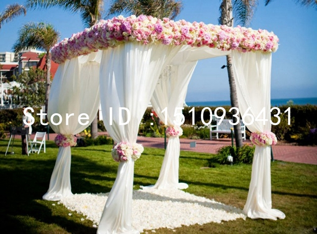 Wedding Outdoor Decoration Reception Hall Party Canopy Drapes With Stand And Flowers & Wedding Outdoor Decoration Reception Hall Party Canopy Drapes With ...