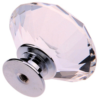 WSFS Hot 8X 40MM Clear Crystal Glass Door Knobs Handles Diamond Drawer Cabinet Furniture
