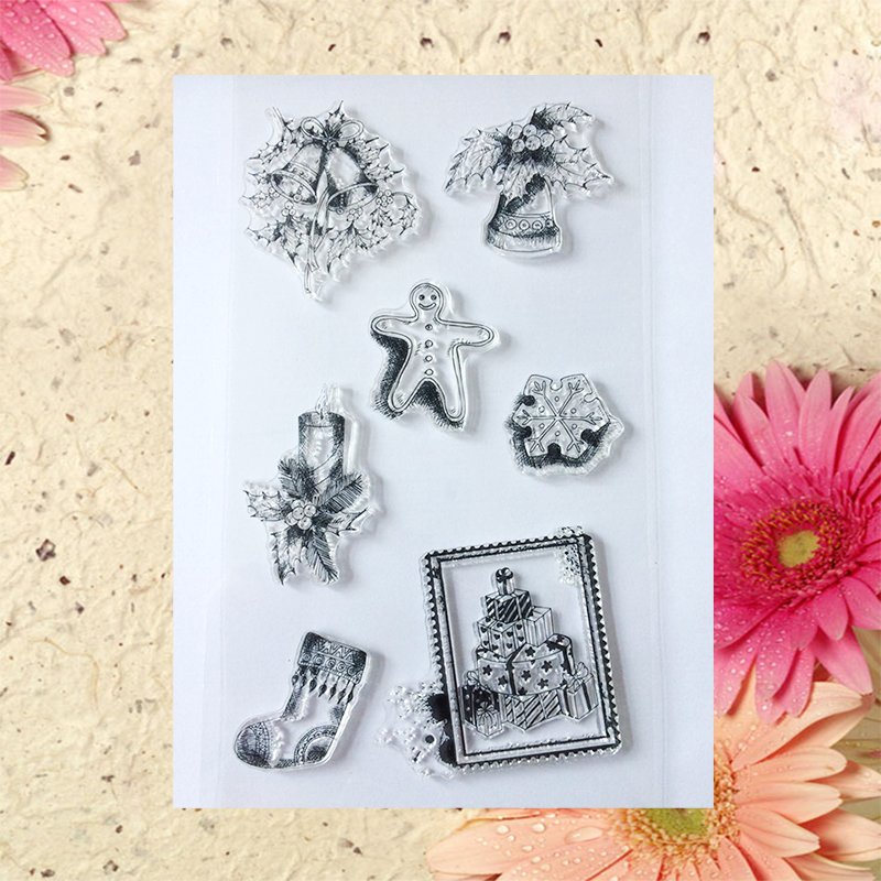 2016 new Scrapbook DIY Photo Album Account Transparent Silicone Rubber Clear Stamps Christmas ornaments