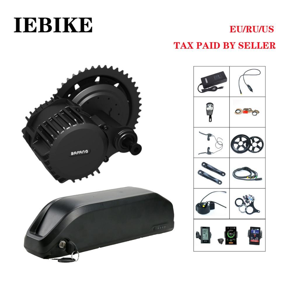 BBS02 36 V 500 W BAFANG 8fun Meados de Acionamento Do Motor para a Bicicleta Elétrica E Bicicleta Kit De Conversão Bicicleta Elétrica DIY kit com Bateria