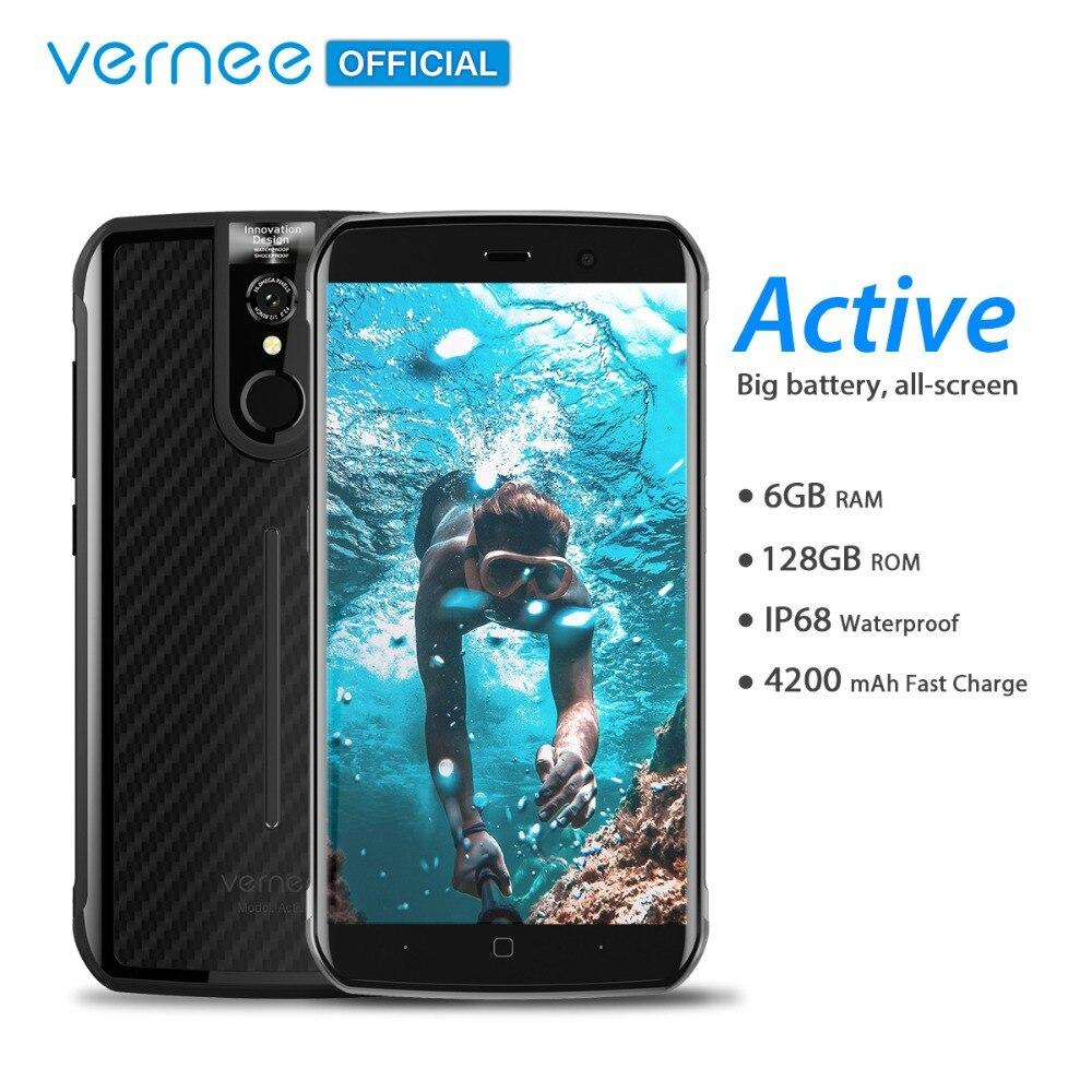 Globale Versione Vernee Attivo IP68 Impermeabile Robusto Smartphone Helio P25 6 gb 128 gb 5.5