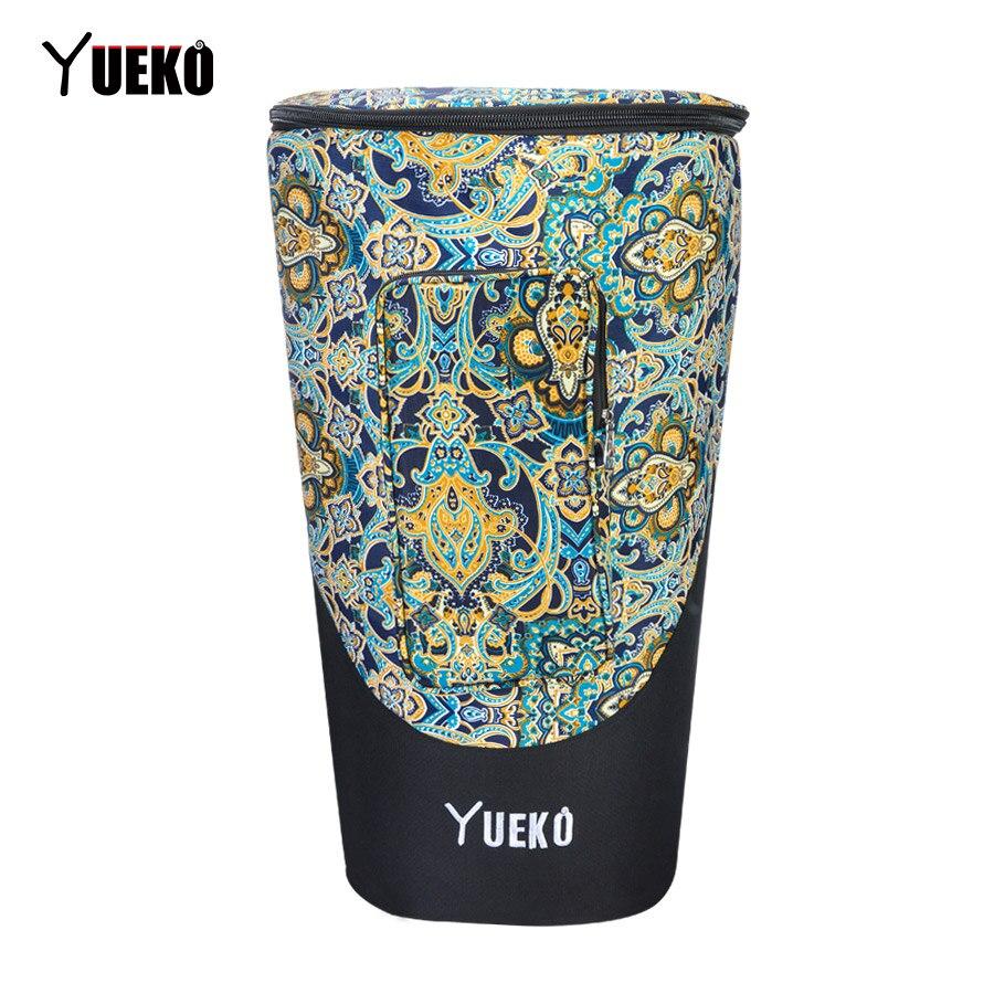YUEKO 2018 новый мешок джембе Африканский барабан сумка регулируемые плечевые ремни высокое качество тройной слой строительство 10 дюймов 12 дюй...