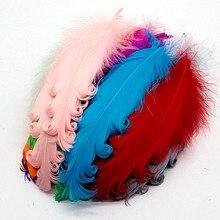 50 шт разноцветное завитое гусиное перо на Хэллоуин Рождество свадебная шляпа для костюмов перья из декоративного материала 10-15 см/4-6 дюймов