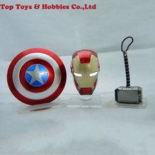 1/12 Scale Avengers Figure Accessories Hammer Iron Man Helmet Shield PVC Models Collection Toy For 6 inches Action Figure цена