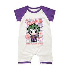 Комбинезоны для маленьких мальчиков; хлопковая одежда для младенцев; летний стильный комбинезон с короткими рукавами для малышей; детские комбинезоны для новорожденных