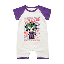 Baby Boys Rompers Infant Cotton Clothing THE JOKER Summer Style Short Sleeve Toddler Jumpsuit Newborn Babies Overalls