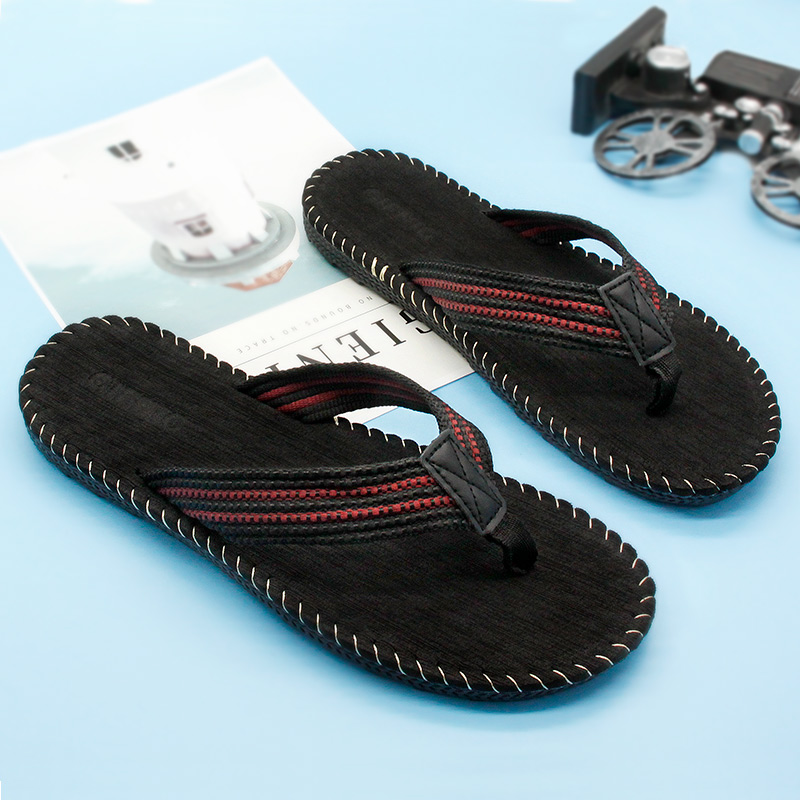 Gienig 2018slips mænds flip-flops Outdoor beach slippers massage - Mænds sko