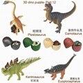 Frete grátis 4 pcs 3D puzzle dos dinossauros ovo 7466-12 brinquedo educativo muito divertido kadis animais