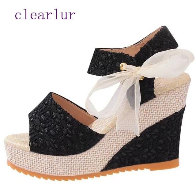 9daa8925d05fa Ultra Las Casuales Beige Plataforma Abierto Sandalias Dedo Altos Mujer  Negro Zapatillas Tacones Cuñas De Zapatos gwYqPxT1w