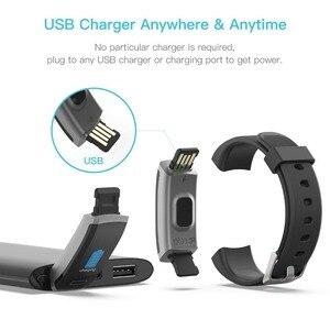 Image 2 - Lerbyee חכם צמיד GT101 צבע מסך קצב לב צג כושר Tracker Bluetooth חכם להקה שחור גברים pk FK88 W46 P8