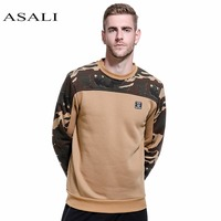 ASALI Camo Hoodies Men 2017 New Hip Hop Patchwork Sweatshirt Male Hoody Military Fleece Hoodie Mens