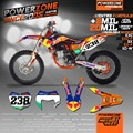 Custom Team Graphics Backgrounds Customized Decals 3M Stickers Kit For KTM RB238 EXC W XC XCW F SX SXF125 -530 Free Shipping