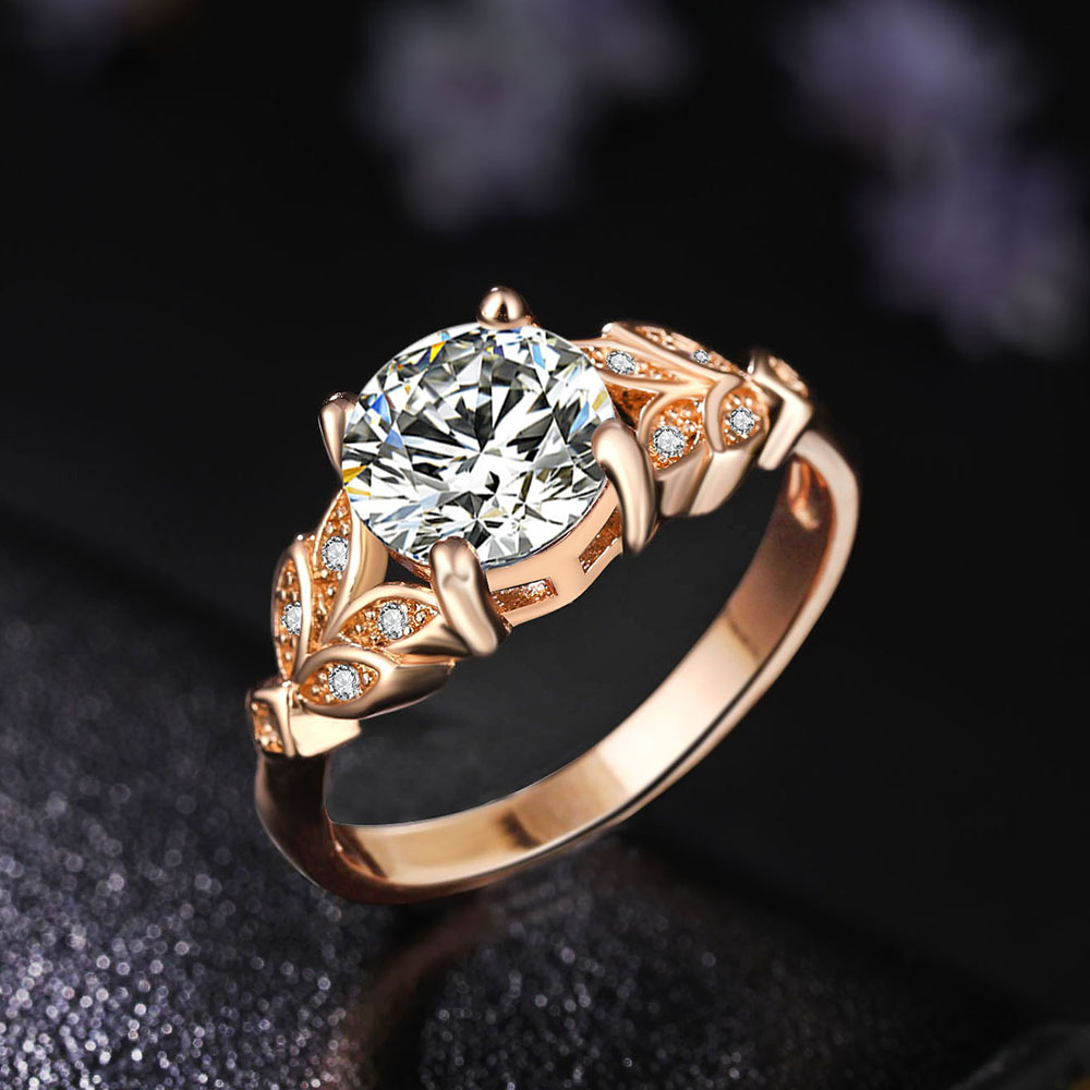 Detail Feedback Questions about 17FR Wedding Crystal Silver Ring Engagement  Single Gold Color Cubic Zircon Ring Fashion New Brand Bijoux Women s Jewelry  on ... cc61052f3bde