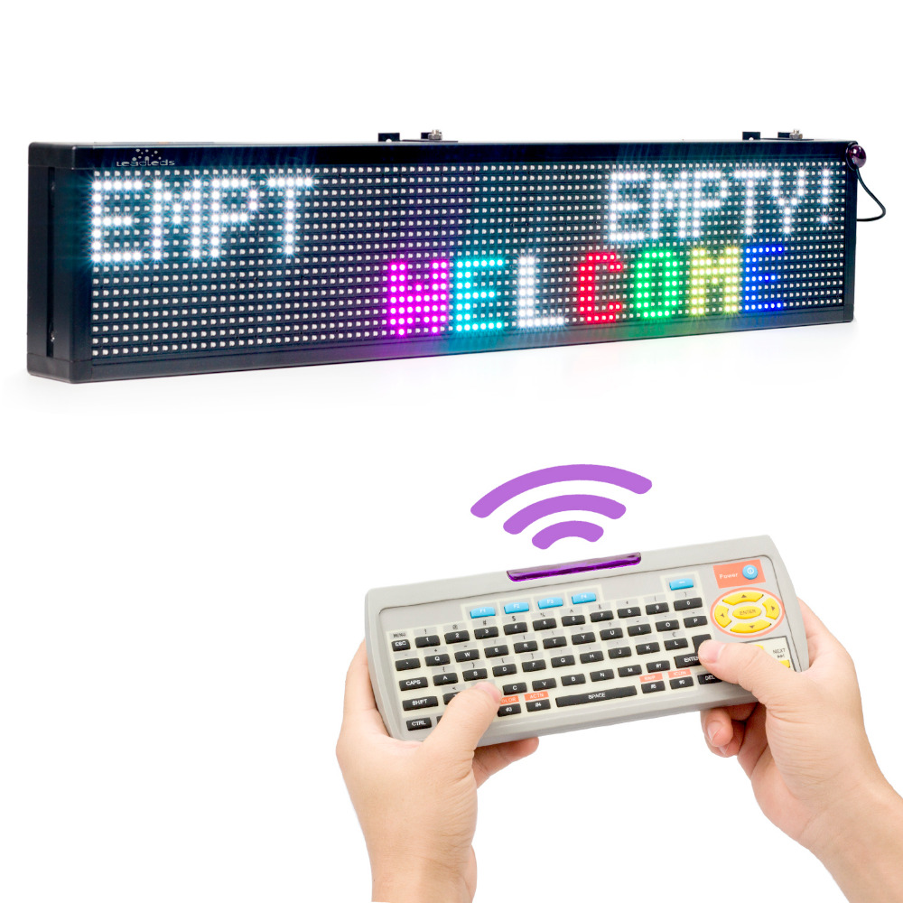 30 X 6-in Indoor Wireless SMD RGB Full Color Remote Control Keyboard LED Sign 110V /220V 24H Open Message LED Display Board