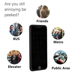 Image 3 - Закаленное Стекло Экран протектор для мобильного телефона iPhone 7 6 6S Plus конфиденциальности Стекло пленка для iPhone х Защитный Стекло с антибликовым покрытием Бесплатная доставка