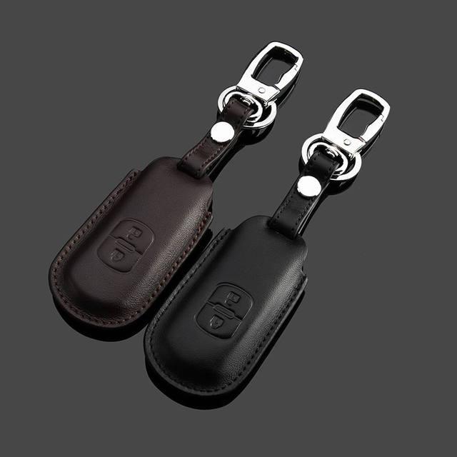 Кожаный чехол для двухкнопочного ключа от автомобиля Mazda M5 M3 M6 CX-5 CX-7