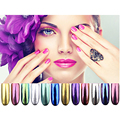 Boxes Glitter Magic Mirror Chrome Effect Dust Shimmer Nail Art Powder 12 Colors Tips Sequins Chrome Pigment Glitters P45