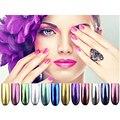 Cajas de Brillo Mágico Espejo Cromo Efecto Shimmer Polvo Del Arte Del Clavo Glitters Powder 12 Colores Consejos Lentejuelas Pigmento de Cromo P45