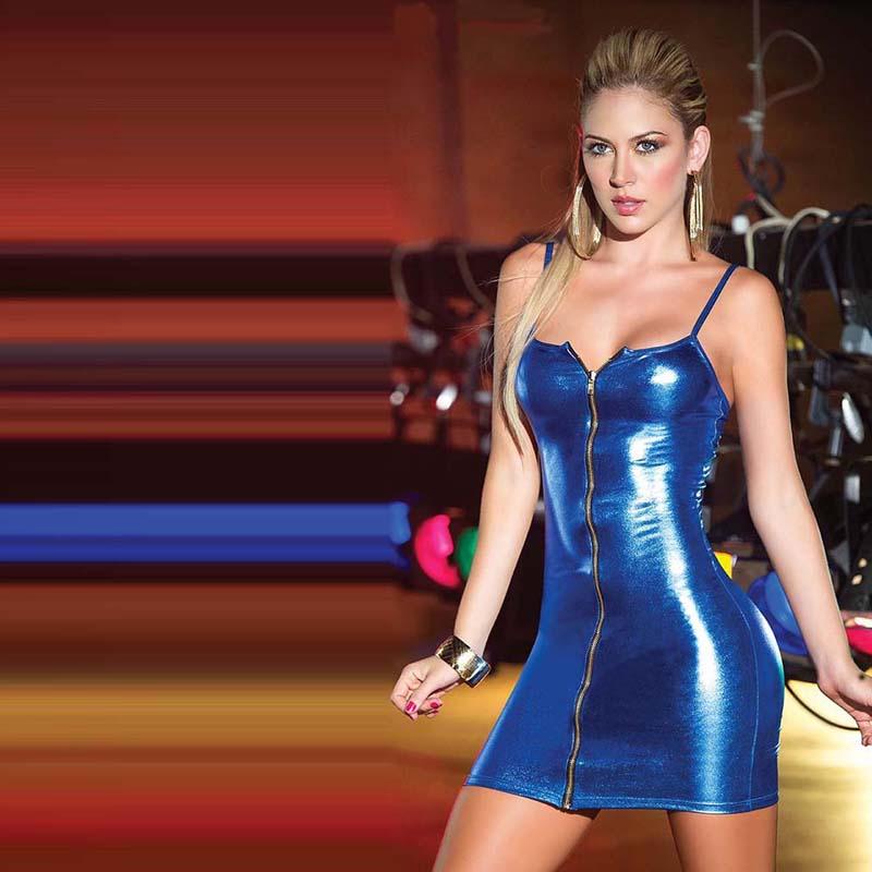 HTB1jlANaEvrK1RjSspcq6zzSXXau 4XL Ladies Sexy Club Party Sheath Dress Sleeveless Spaghetti Strap Low-cut Dress Women's Clothing Front Zipper Mini Vestidos