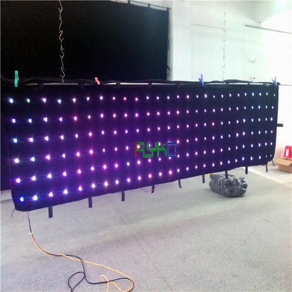 free shipping chrismas/ party/wedding decoration led video curtain P18 1X5M