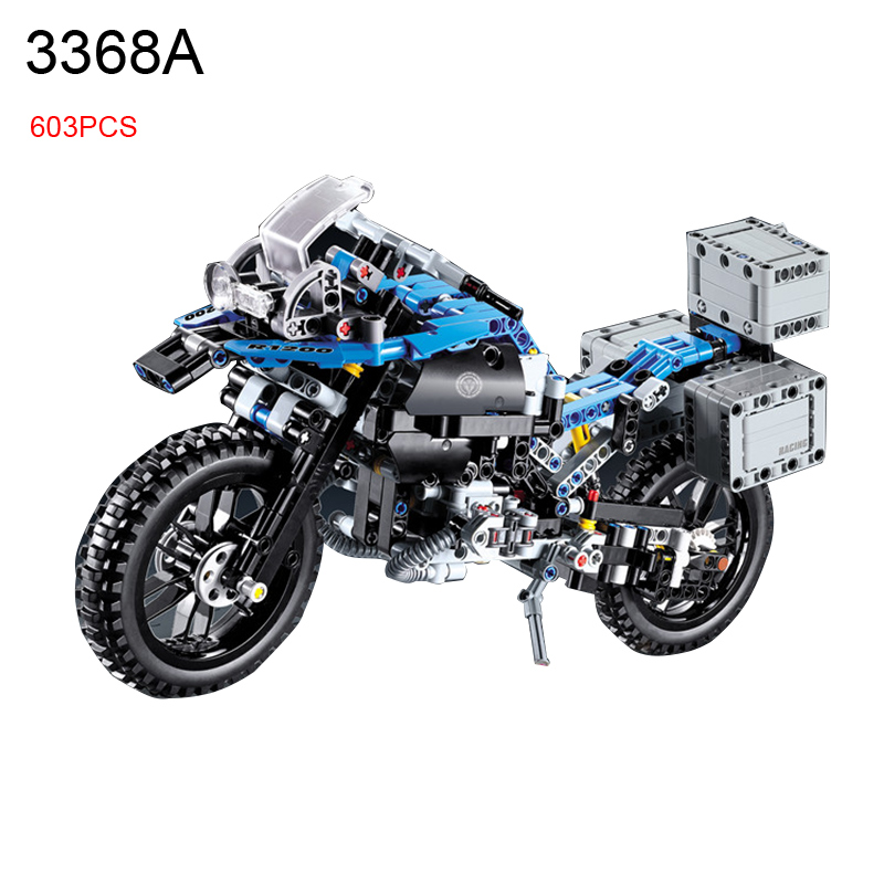 603pcs 2 In 1 Motorcycle Car building bricks blocks diy Educational toys for children Boy Game Gift 42063 xipoo 6 in 1 blue military ship diy model building blocks bricks sets educational gift toys for children boy friends