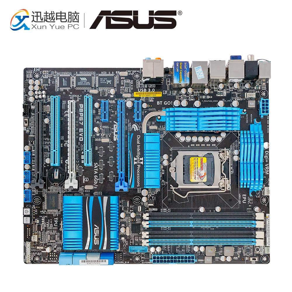 Asus P8P67 EVO Desktop Motherboard P67 Socket LGA 1155 i3 i5 i7 DDR3 32G SATA3 USB3.0 ATX asus p8p67 desktop motherboard p67 socket lga 1155 i3 i5 i7 ddr3 32g sata3 usb3 0 atx