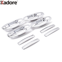 Kadore Fit For Hyundai Santa Fe 2001 2002 2003 2004 2005 2006 ABS Chrome Auto Door Handle Bowl Cup Cover Trim 8pcs Car-styling
