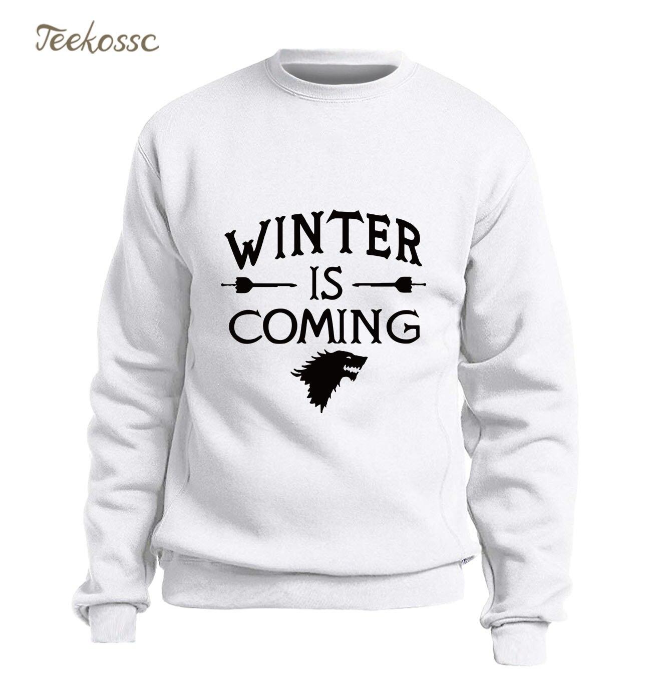 Game Of Thrones Hoodie Men Wolf Sweatshirt Cool Crewneck Sweatshirts 2018 Winter Autumn Fleece Warm New Fashion Sportswear Mens
