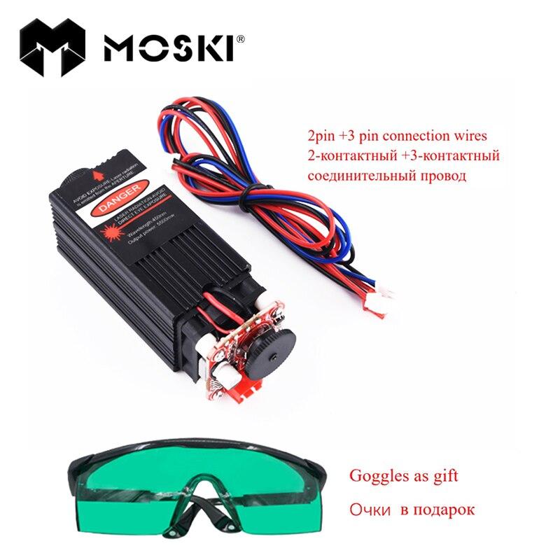 MOSKI, module laser 5500 mw, tête laser bricolage 5.5 w, lasers bricolage 5.5 w, laser lumière bleue 450nm